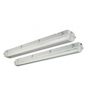 Pantalla estanca para dos tubos LED de Roblan
