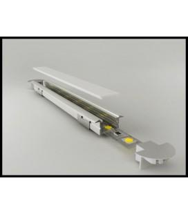 Diffuseur pour profil de surface droites droit ou encastré ou en coin (transparent, vitrée ou opale)
