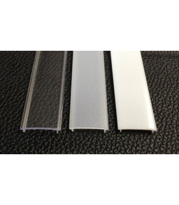 Diffuser for surface profile straight or straight flush or corner (transparent or opal glaze)