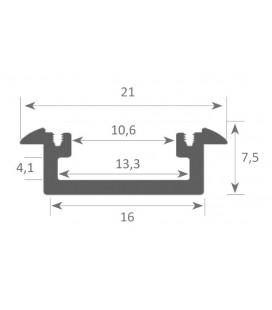 Profil en aluminium pour le modèle encastrable MINI taille LEIRO