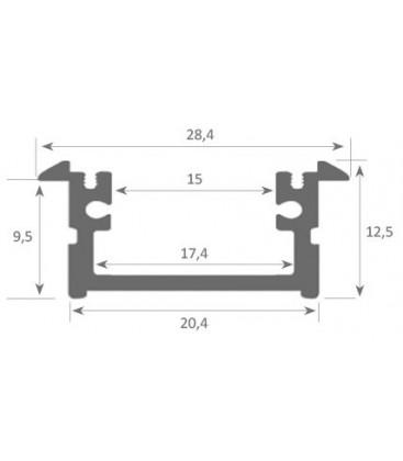 Profil encastré pour bande LED BERLIN XL de Luz Negra