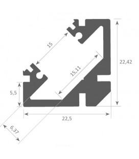 Perfil angular SOPHIA XL de Luz Negra