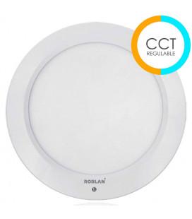 Downlight LED L PANEL SENSOR CCT regulable 18W de Roblan