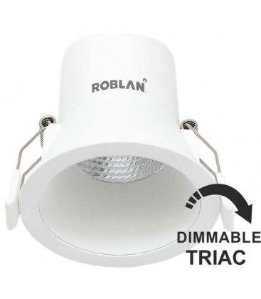 Downlight LED ALL IN 6W dimmable TRIAC by Roblan