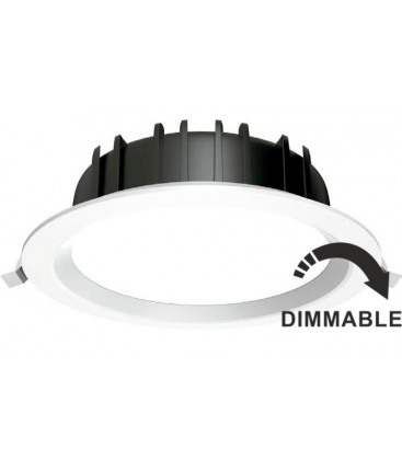 Round downlight 32W dimmable by Roblan