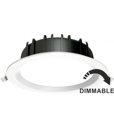Round downlight 28W dimmable by Roblan