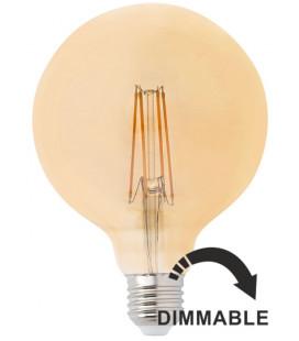 Globo LED ámbar con filamento 4W 125mm dimmable de Faro Barcelona