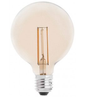 Globo LED ámbar con filamento 4W 95mm de Faro Barcelona
