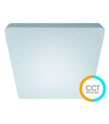 Plafón SEVER cuadrado tonalidad regulable de Cristal Record