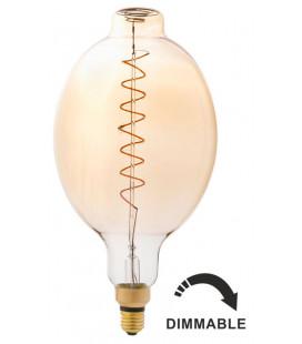 Bombilla LED con filamento BT180 ámbar 8W de Faro Barcelona