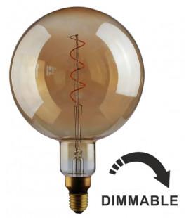 Bombilla LED con filamento G200 ámbar 5W regulable de Faro Barcelona