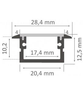 Perfil de aluminio para empotrar modelo LEIRO tamaño XL