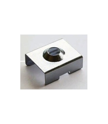 Clamp clip for surface profile straight, straight flush or recessed corner.