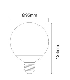 GLOBE LED CONNECTION BENEITO & FAURE E27 10W BULB