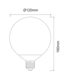 BULB GLOBE 14W LED CONNECTION E27 BENEITO & FAURE