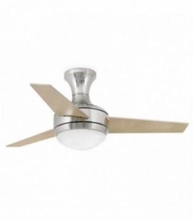 Fan with light Mini Ufo diameter 104 cm 3 blades 2 X E27 20W of Faro