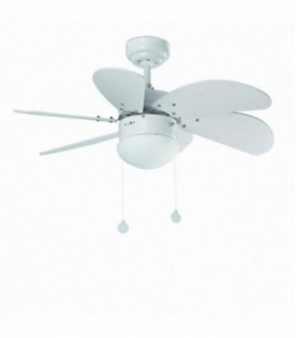Ventilateur avec lumière Palao 81 6 lame diamètre en cm 1 X E14 40W Faro Barcelona