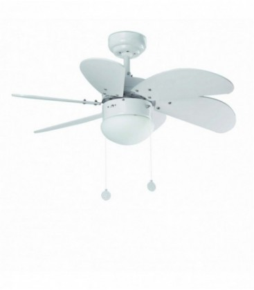 Fan with light Palao 81 6 cm diameter blade 1 X E14 40W of Faro