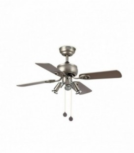 Fan with light tortoise 91cm diameter / 4 blade 3L Lighthouse Gu10