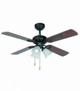 Fan with light Lisbon diametro107cm 4 Palas 3L E27 60W of Faro Barcelona