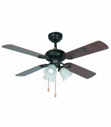 Fan with light Lisbon diametro107cm 4 Palas 3L E27 60W of Faro Barcelona