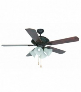 Fan with light Corso diameter 213 cm 5 blade 4L E27 60W of Faro Barcelona