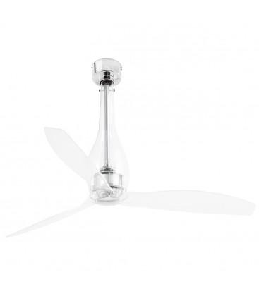Fan without light Eterfan diameter 128cm glass borosilicate 3 Palas from Faro