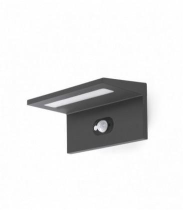 Teba apply dark gray Solar Pir LED 4000K
