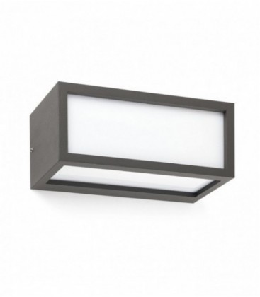 Yew dark grey Wall lamp 20W E27