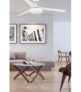 Ventilateur avec lumière Vulcano diamètre 152cm 3 Palas LED 25W 3000 K Dimabl de Faro