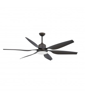 Fan with light Tilos diameter 168cm dark 6 Palas 2 X E27 of Faro Barcelona