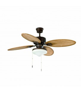 Fan with Lombok 213 cm dark brown 4 Palas 2L 60W E27 light lighthouse