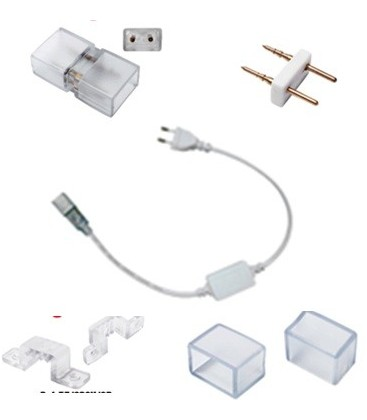 Kit de raccordement pour bande de LED blanc ou bleu-220V
