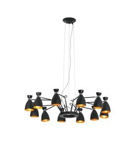 Lámpara colgante 12 luces RETRO de Faro