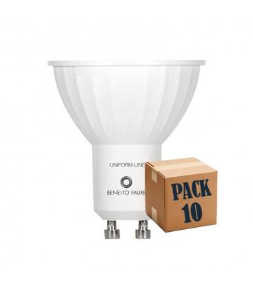 PACK 10 GU10 6W 220V 120º UNIFORM-LINE LED de Beneito Faure