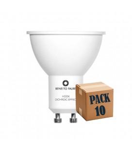 PACK DE 10 HOOK GU10 6W 220V 60º DICHROIC EFFECT LED de Beneito Faure