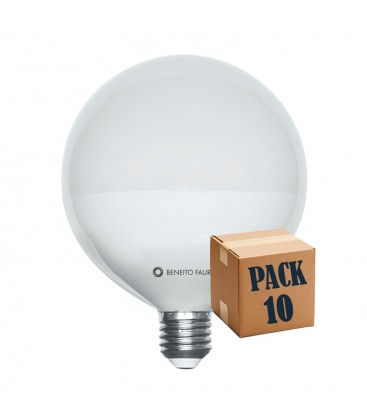 PACK of 10 balloon 22W E27 220V 360 ° LED Beneito Faure