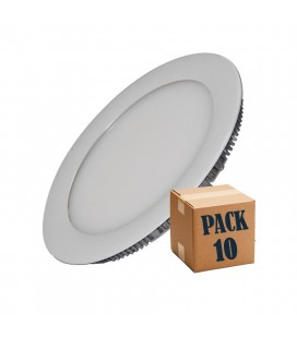 Pack 10 Downlight LED Redondo 18W de Roblan