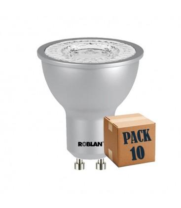 Pack de 10 dicroica LED ECO SKY 7W GU10 de Roblan
