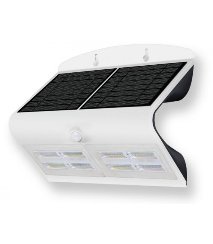 Aplique con panel solar led 6 8w de roblan ledsolintel for Aplique exterior solar led