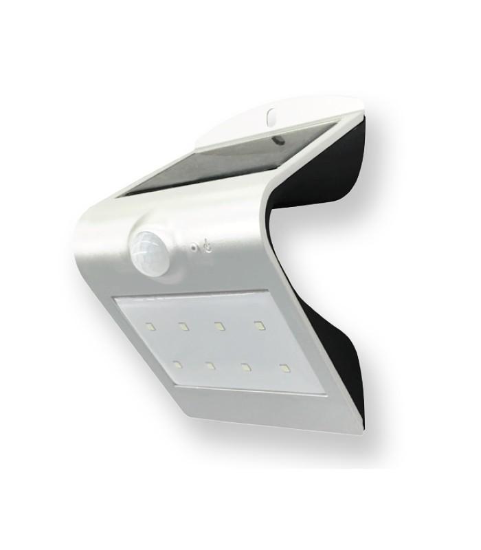 Aplique con panel solar led 1 5w de roblan for Aplique exterior solar led