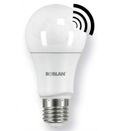 Standard LED with sensor 9W Roblan