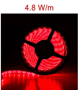 LED Strip red from 4.8 Watts/m. IP20 or IP67 Roblan 12V
