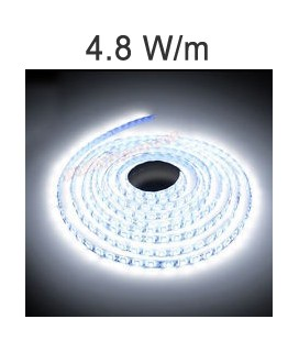 LED Strip white of 4.8 Watts/m. IP20 or IP67 Roblan 12V