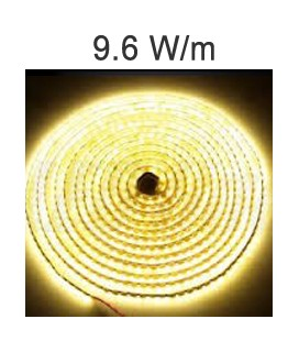 LED Strip white 9.6 Watts/m. Roblan 12V IP67