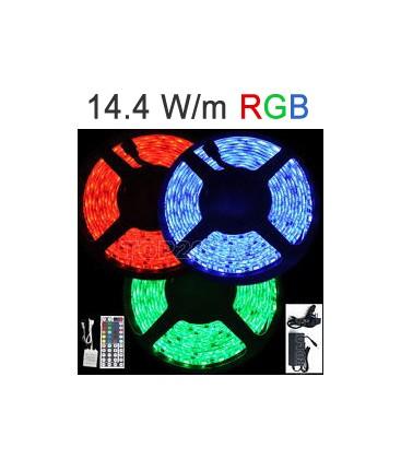 Strip RGB LED 14,4 Watts/m. Roblan 12V IP67