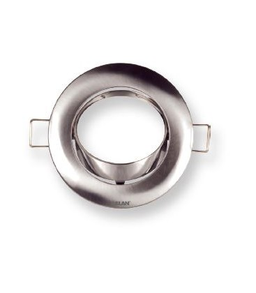 Aro redondo empotrable orientable para dicroicas GU10 de Roblan