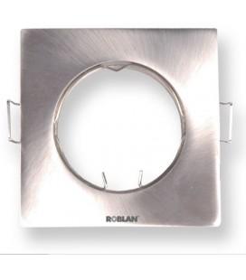 Aro cuadrado orientable para dicroicas GU10 de Roblan
