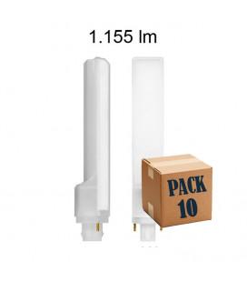 Pack 10 CALA PL 10W G24 2 PINS 220V 135º UNIFORM-LINE LED de Beneito Faure