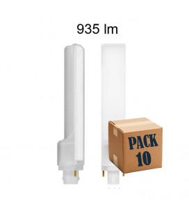 Pack 10 CALA PL 9W G24 2 PINS 220V 135º UNIFORM-LINE LED de Beneito Faure